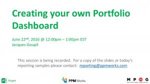 Creating your own Portfolio Dashboard