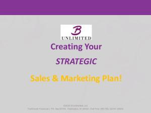 Creating Your STRATEGIC Sales & Marketing Plan!
