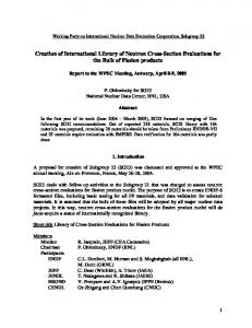Creation of International Library of Neutron Cross-Section Evaluations for the Bulk of Fission products