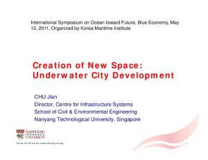 Creation of New Space: Underwater City Development