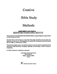 Creative. Bible Study