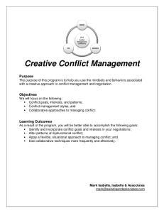 Creative Conflict Management