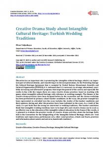 Creative Drama Study about Intangible Cultural Heritage: Turkish Wedding Traditions