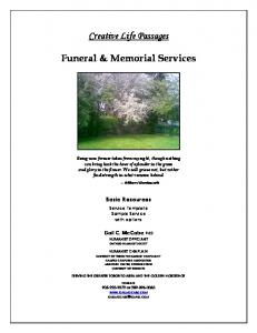 Creative Life Passages. Funeral & Memorial Services