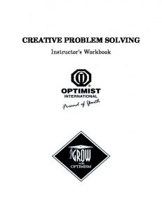 CREATIVE PROBLEM SOLVING. Instructor s Workbook