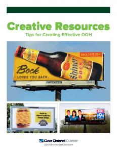 Creative Resources Tips for Creating Effective OOH
