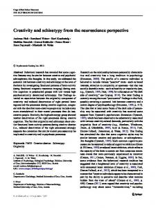 Creativity and schizotypy from the neuroscience perspective