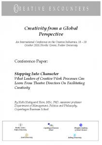 Creativity from a Global Perspective