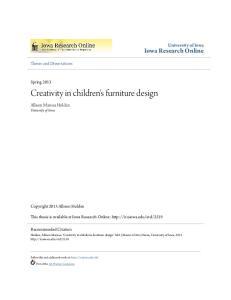 Creativity in children's furniture design