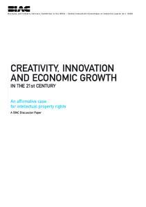 CREATIVITY, INNOVATION AND ECONOMIC GROWTH