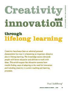 Creativity. innovation. lifelong learning