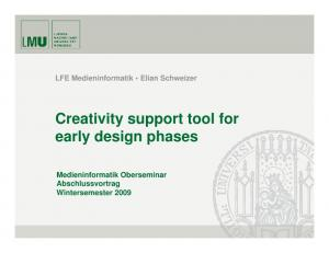 Creativity support tool for early design phases