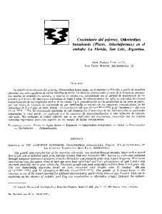 Crecimiento del pejerrey, Odontesthes bonariensis (Pisces, Atheriniformes) en el embalse La Florida, San Luis, Argentina