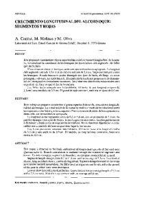 CRECIMIENTO LONGITUDINAL DEL ALCORNOQUE: SEGMENTOS Y HOJAS
