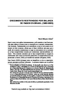 CRECIMIENTO RESTRINGIDO POR BALANZA DE PAGOS EN BRASIL ( )