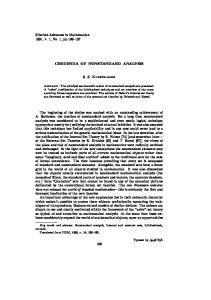 CREDENDA OF NONSTANDARD ANALYSIS. S. S. Kutateladze