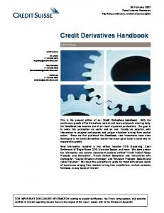 Credit Derivatives Handbook