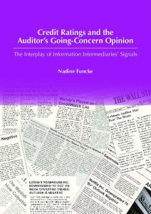 Credit Ratings and the Auditor s Going-Concern Opinion