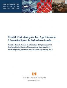 Credit Risk Analysis for AgriFinance