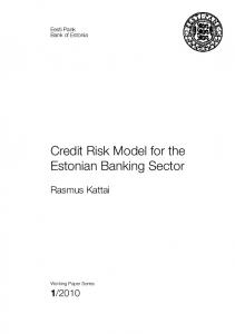 Credit Risk Model for the Estonian Banking Sector