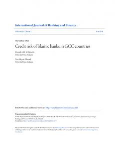 Credit risk of Islamic banks in GCC countries