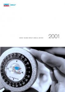 CREDIT SUISSE GROUP ANNUAL REPORT 2001