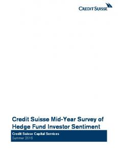 Credit Suisse Mid-Year Survey of Hedge Fund Investor Sentiment