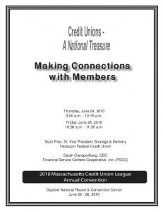 Credit Unions - A National Treasure
