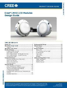 Cree LMH2 LED Modules