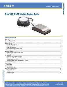 Cree LMH6 LED Module Design Guide