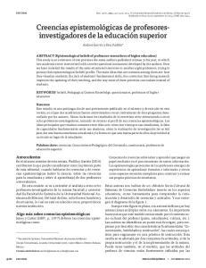 Creencias epistemológicas de profesoresinvestigadores