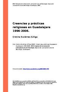 Creencias y prácticas religiosas en Guadalajara