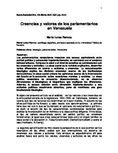 Creencias y valores de los parlamentarios en Venezuela