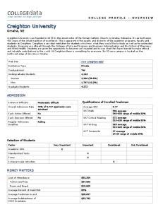 Creighton University Omaha, NE