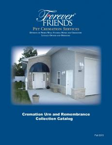 Cremation Urn and Remembrance Collection Catalog