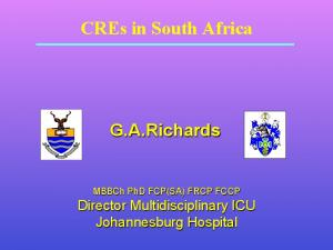 CREs in South Africa G.A.Richards