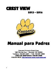 CREST VIEW Manual para Padres