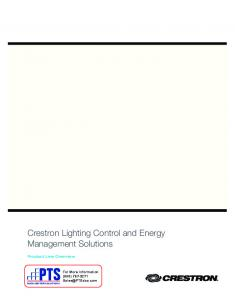 Crestron Lighting Control and Energy Management Solutions