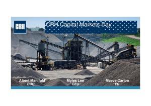 CRH Capital Markets Day COO CEO FD