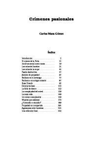 Crímenes pasionales Carlos Maza Gómez Índice