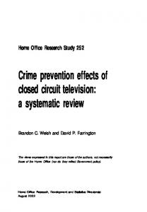 Crime prevention effects of closed circuit television: a systematic review