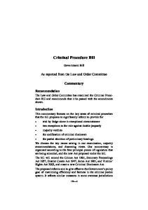 Criminal Procedure Bill