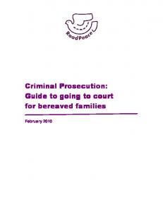 Criminal Prosecution: for bereaved families
