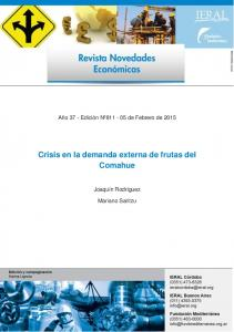 Crisis en la demanda externa de frutas del Comahue