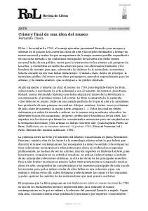 Crisis y final de una idea del museo Fernando Checa