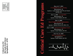 Critical Care Ed Programs