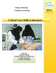 Critical Care Skills Laboratory