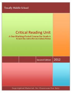 Critical Reading Unit
