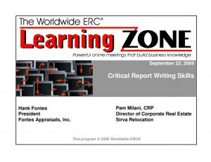 Critical Report Writing Skills