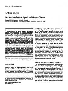 Critical Review. Nuclear Localization Signals and Human Disease